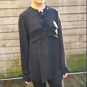 Classy Sheer Black Tunic 😍